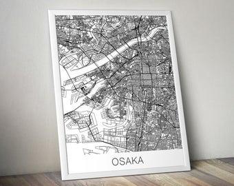 Osaka Map Print