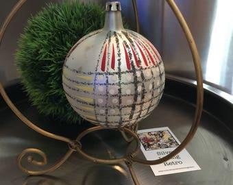 Large christmas ornament, christmas decoration, 1950's christmas decorations, silver ornament, vintage christmas ornaments, mercury glass