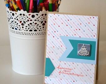"Card ""happy birthday wishes"" + envelope"