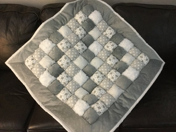 Bubble quilt baby quilt quilt crib quilt puff by for Floor quilt for babies