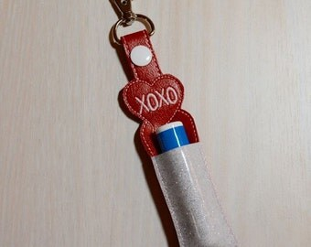 Lip Balm, Chapstick, Flash Drive, USB Drive Holder - Valentines, XOXO