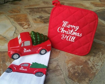 Personalized Christmas Truck Set