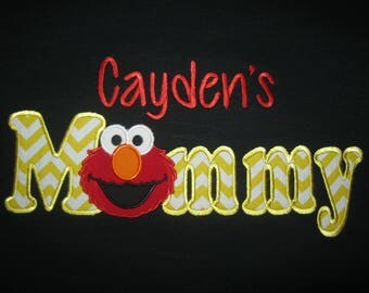 Personalized Elmo Birthday shirt shown here as Mom or Daddy Shirt