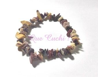 Baroque bracelet with Mokaïte chips