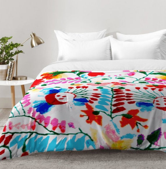 Items similar to comforter mexican surf trip tropical Mexican embroidered bedding