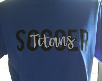 Titans Soccer Shirt, Titans tee, soccer tee