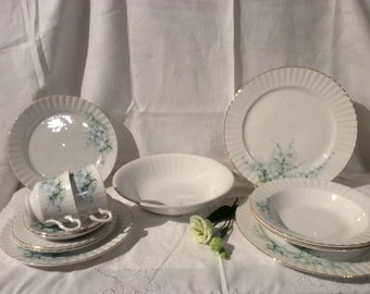 Beautiful Royal Stafford Delicate Floral Dinner service For Two Persons Vgc