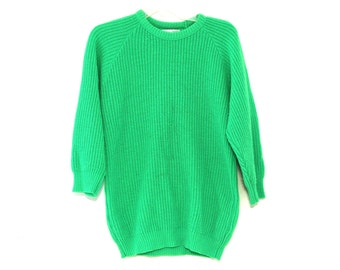 Vintage 80s sweater neon green