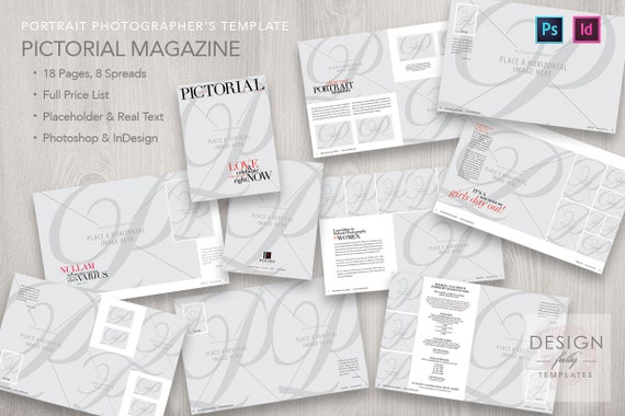 Pictorial Magazine Template - PSD CS6 - CC & IDCS4 - CC