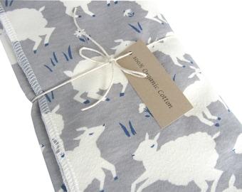 Organic Receiving Blanket, Organic Swaddle Blanket, Organic Baby Gift