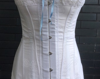 Edwardian Long Corset 1910 Wedding Lingerie lace Downton Abbey Lady mary titanic Art Deco