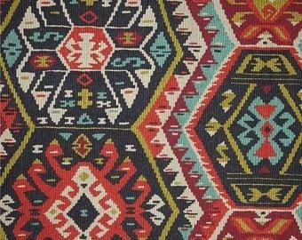 SHIPS SAME DAY Longrock Fiesta Fabric by P Kaufmann, Kilim Fabric, Aztec Drapery Fabric, Boho Style Fabric, Fiesta Tribal - by the yard