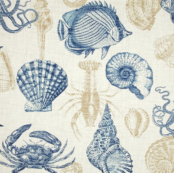 Richloom Indoor/Outdoor Fabric, Sea Life Marine Outdoor ...