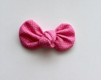 Pink Dot Knot Bow