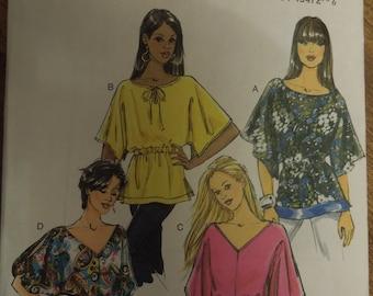 Butterick B5496, sizes L-xxlarge, UNCUT sewing pattern, craft supplies, pullover tunics