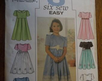 Butterick 3709, sizes vary, girls dress, UNCUT sewing pattern, craft supplies