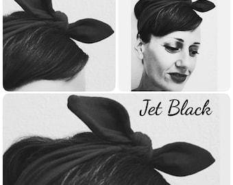 Handmade in the USA! CHERI Retro Pin Up Headband, Rockabilly BRIDESMAID Hair Tie, 1950s Style Hair Scarf