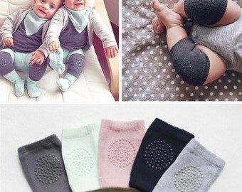 Unisex Baby Toddlers Kneepads, Adjustable Knee Elbow Pads Crawling Newborn Baby Kneepad Knee Protector Washable Ready to Ship RTS