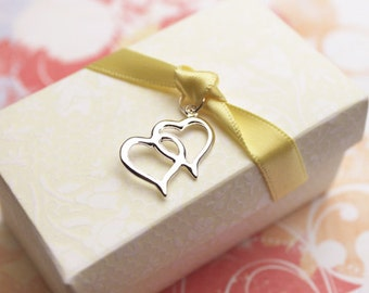 40 pcs Double Hearts Charms