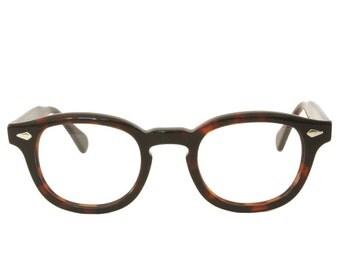 Horn Rim Johnny Depp Optical Eyeglasses 44 24 Demi Amber