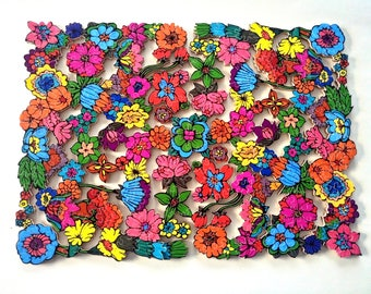 Wooden Jigsaw Puzzle JUST A CHALLENGE Custom puzzle Hand Cut Brain teaser  Handcrafted Picture puzzle  Colorful Flower puzzle Wood jigsaw