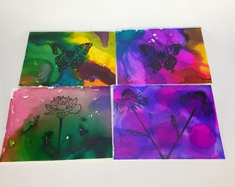 Handmade Cards, Blank Cards, Flower Cards, Butterfly Cards, All Occassion Cards
