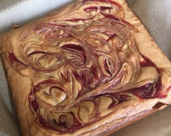 White Chocolate & Raspberry Brownies/Blondies - full pan