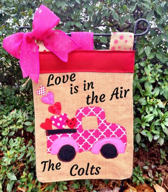 Valentines Day Garden Flag Heart Sign Personalized Valentine