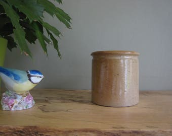 Small Vintage Antique Glazed Pot, Vintage Pottery Jar, ceramic jar, earthenware jar