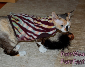 Sphynx Cat Clothing - Fleece SlipOn/SlipOff Sweater