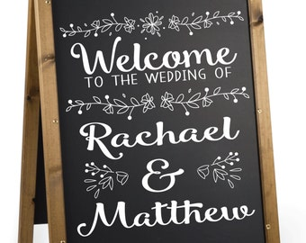 Wedding Welcome Sign Decal.  Welcome Decal for Wedding Sign.  Personalized Wedding Welcome Sign Decal.   Custom Wedding Welcome Decal