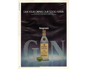 Vintage 1980 magazine ad for Seagrams Gin - 232