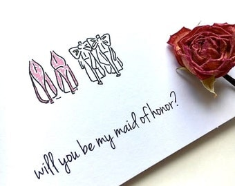 Maid of Honor Card