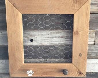 Reclaimed wood jewelry hanger