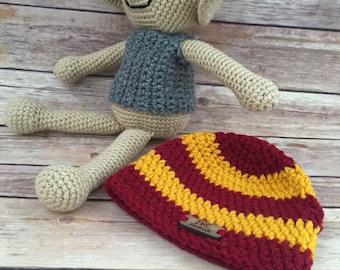 Crochet Dobby and matching House Hat - Harry Potter Crochet