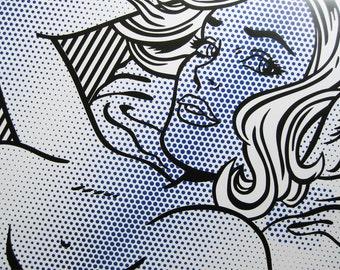 ROY LICHTENSTEIN - 'Seductive girl' - original offset lithograph - c1992 - large (Pop art, Andy Warhol interest)