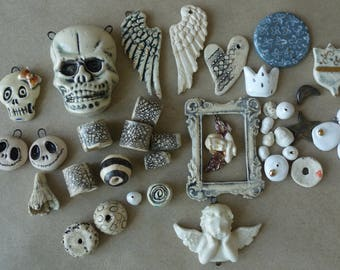 Hand made Ceramic beads, components,connections for Your Creativity