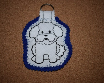 Bichon Frise Keyring, Bichon Frise Gift, Dog Keyring, Handmade Dog Gift, Bichon Frise Dog, Bichon Frise, Handmade Keyring, Keyring, Dog Gift