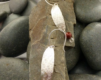 Silver and beaded earrings