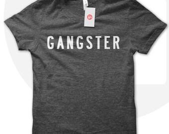 Gangster T Shirt, fashion tshirt, american lover, Gangster shirt, fashionista, rap music, hip hop
