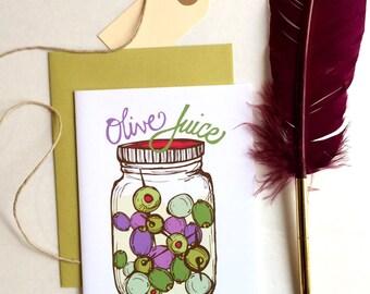 "Olive Juice ""I Love You"" Greeting Card"