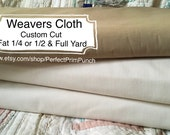 Quality Weavers Cloth…Natural…Hand dyed Walnut…White…Punch Needle Fabric…By the yard…Fat quarter…Half…Full…Yardage