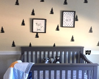 Pine Tree Decal. Tree Wall Decals. Pine Tree Wall Decals. Vinyl Decals. Wall Decal. Nursery wall decals. Home decor decals.