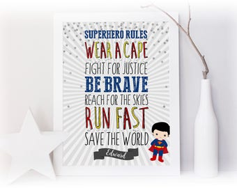 Superhero Rules Print