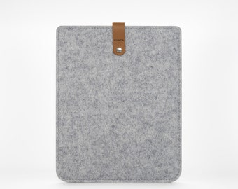 iPad Air 2 Case - iPad Air Cover - Felt and Leather Case - iPad Cover