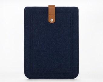 iPad Felt Case - iPad Mini Cover - Leather Felt Case - iPad Mini Sleeve