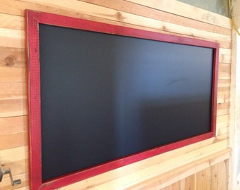"24"" x 48"" Rustic Framed Chalkboard, Rustic Wedding Chalkboard, Kitchen Menu, Menu Board, Rustic Frame"