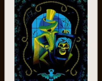 Haunted mansion 2 - cross stitch pattern - cross stitch haunted mansion - cross stitch - haunted mansion - PDF pattern - instant download!
