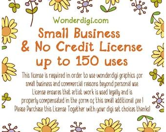 Small Business No Credit License up to 150 uses - Wonderdigi
