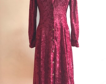 Vintage 90s Crushed VELVET Dress
